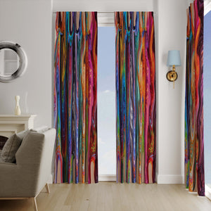 Hippie Swirls Window Curtains