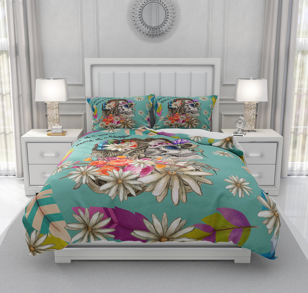 Hippie Heart Sugar Skull Bedding