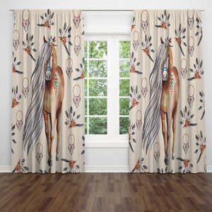 Boho Horse Window Curtains