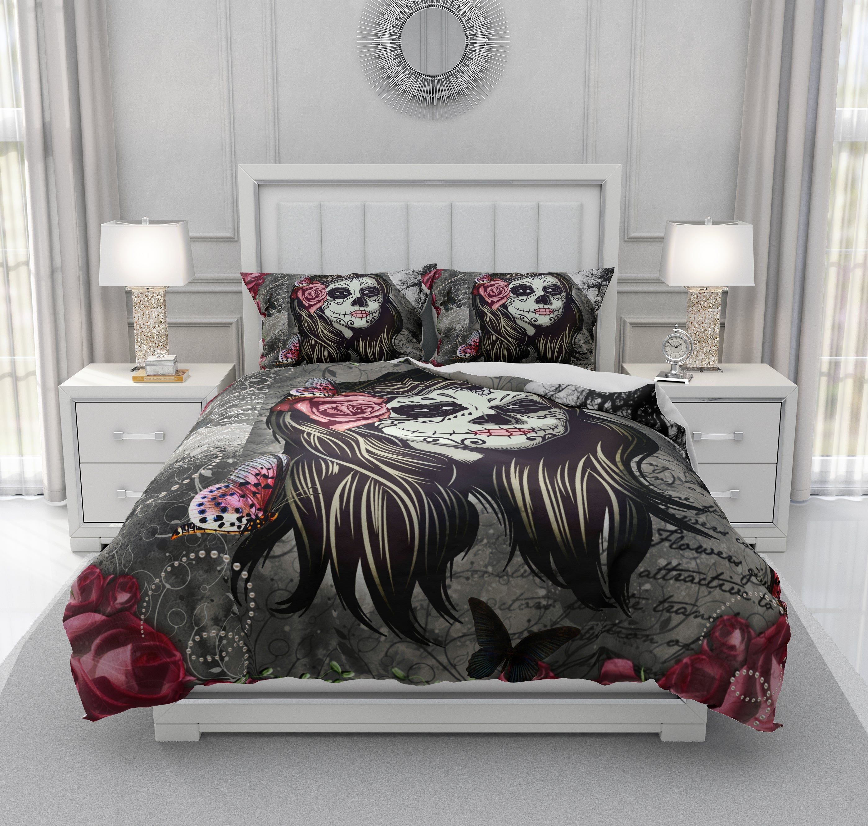 La Rosa Sugar Skull Bedding