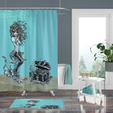 Underwater Mermaid Sea Treasures Shower Curtain, Bath Mat & Towels Bathroom Decor