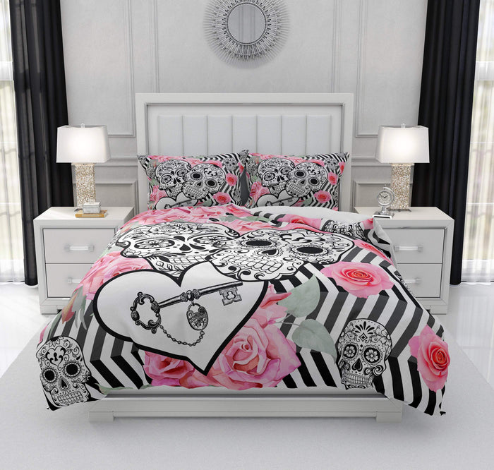 Zig Zag Locked In Love Sugar Skull Bedding