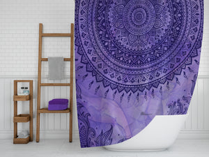 Purple Gypsy Boho Shower Curtain by Folk N Funky