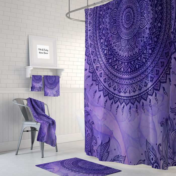 Purple Tie Dye Shower Curtain