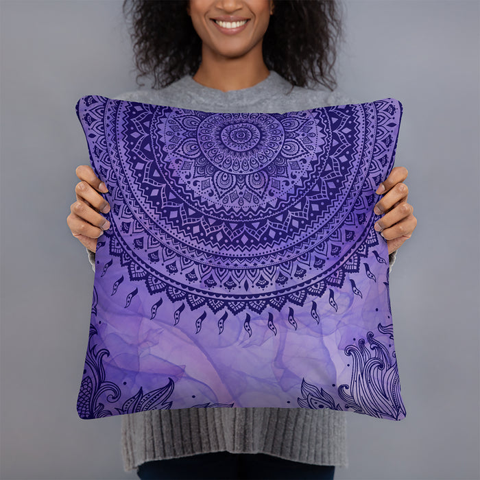 Purple Tie Dye Throw Pillow
