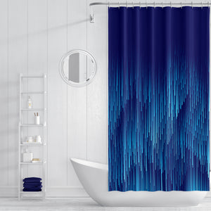 Blue Rain Shower Curtain Bathroom Decor