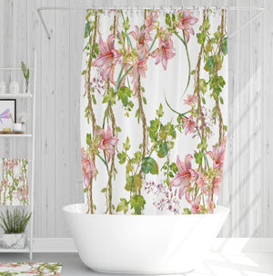 Floral Vines Bathroom Decor