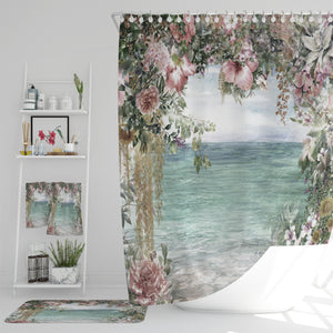 Coastal Floral Bathroom Decor