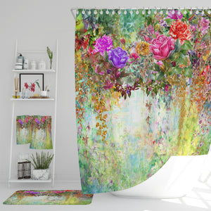 Floral Vines Shower Curtain