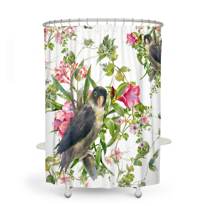 Birds and Flowers Bathroom Decor