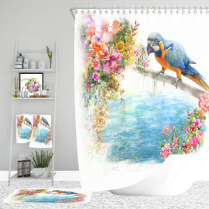 Tropical Coastal Shower Curtain