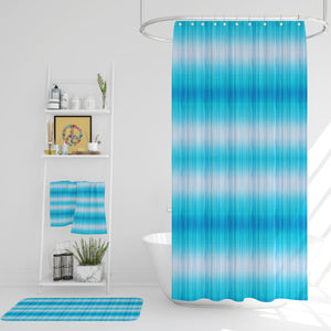 Gradient Blue Tie Dye Shower Curtain