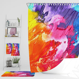 Abstract Mixed Paint Shower Curtain