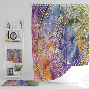 Watercolor Industrial Shower Curtain