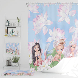 Sweet Mermaids Shower Curtain Bathroom Decor
