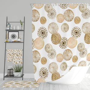 Natural Boho Bathroom Decor Shower Curtain