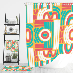 Modern Geometric Bathroom Decor Shower Curtain