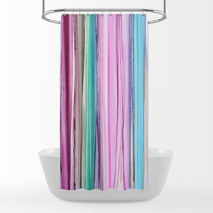 Pink Boho Watercolor Bathroom Decor Shower Curtain