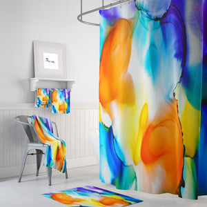 Wild Watercolor Bathroom Decor Shower Curtain