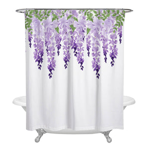 Wisteria Draping Floral Shower Curtain Optional Towels Mat