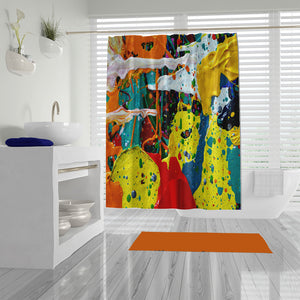 Maximalist Oil Abstract Shower Curtain