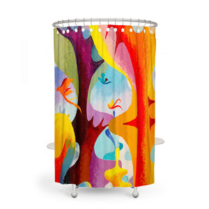 Max Forest Abstract Shower Curtain