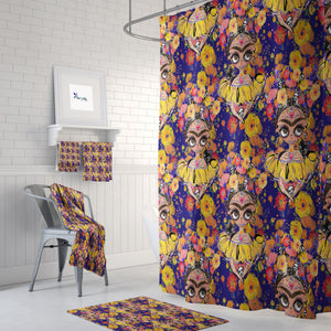 Sugar Skull Shower Curtain Bathroom Decor Frida Design