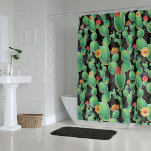Cactus Shower Curtain Bathroom Decor