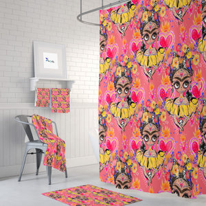 Pink Sugar Skull Shower Curtain Bathroom Decor Frida Design