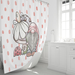 Gnome Shower Curtain Bathroom Set Garden Hobbit
