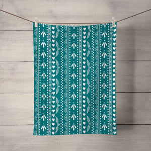 Frontier Lace Teal  Shower Curtain Options Bathroom Decor