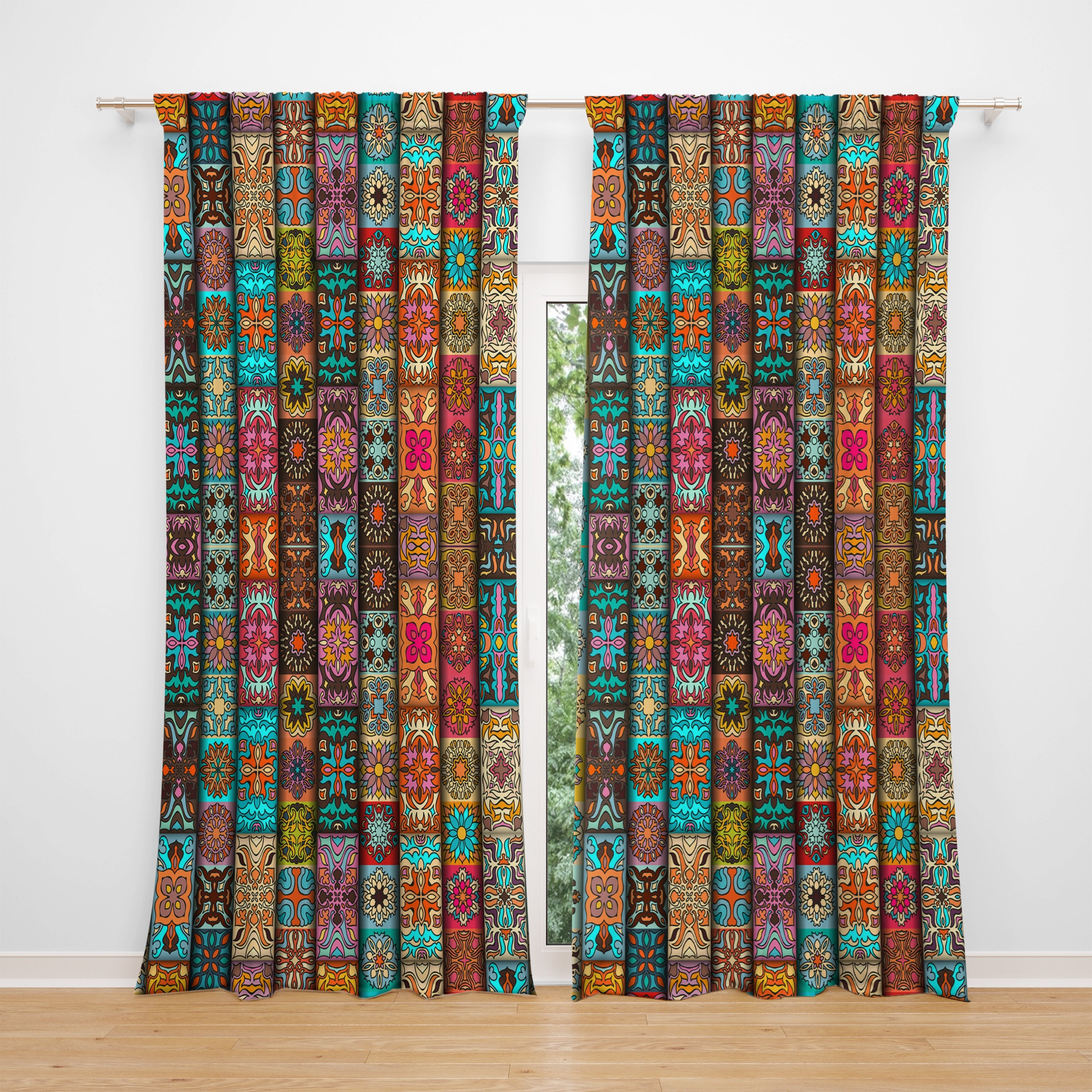 Southwest Pattern Window Curtains