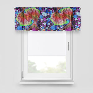 Boho Fractal Window Curtains