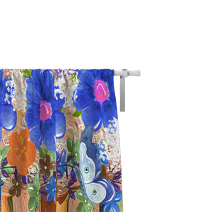 Tuscan Floral Window Curtains