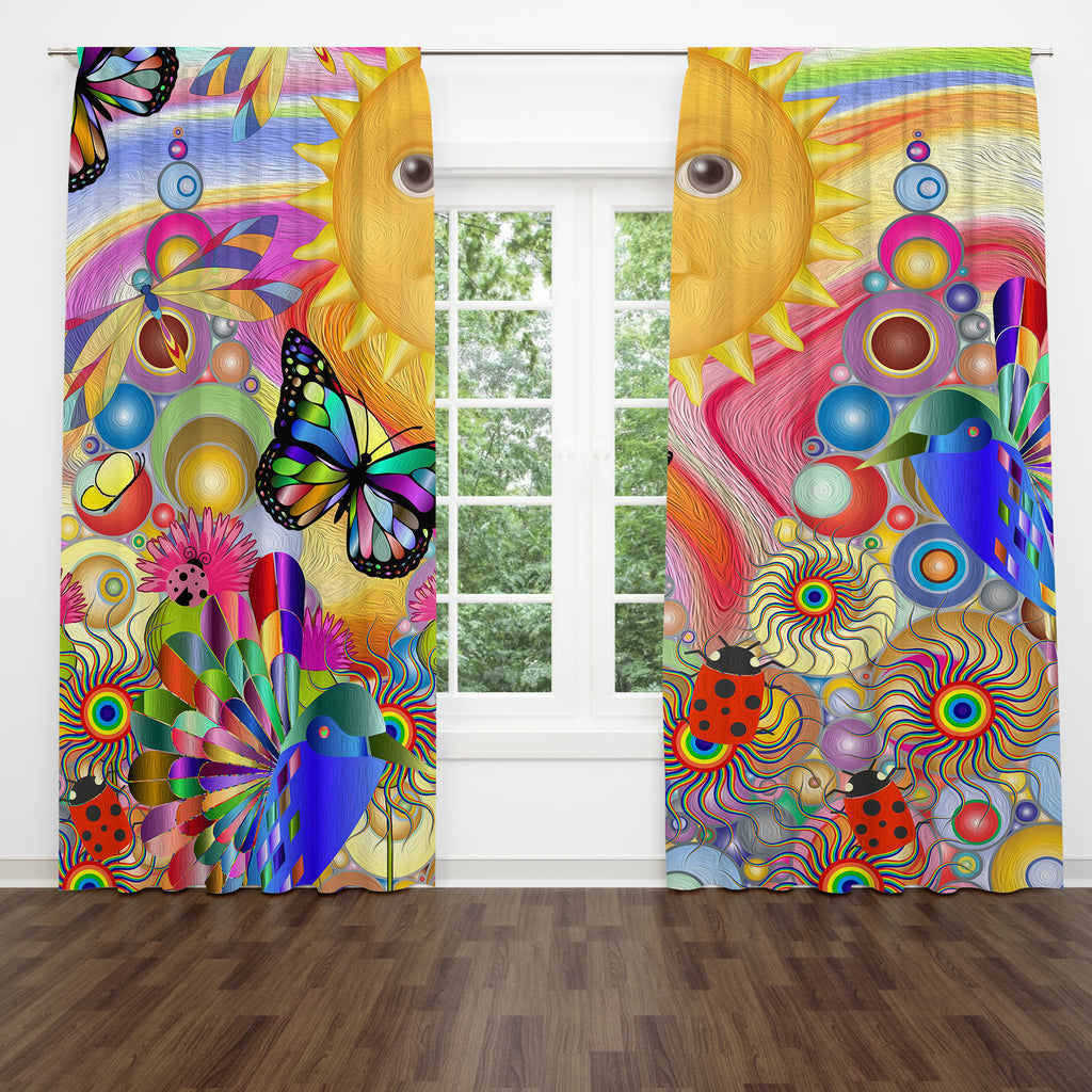 Hippie Sunshine Window Curtains
