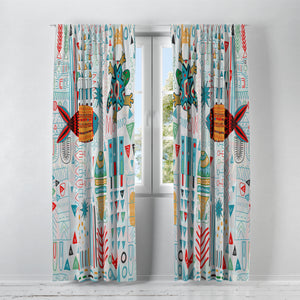 Bright Tribal Window Curtains