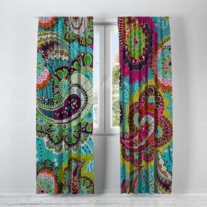 Bohemain Paisley Window Curtains