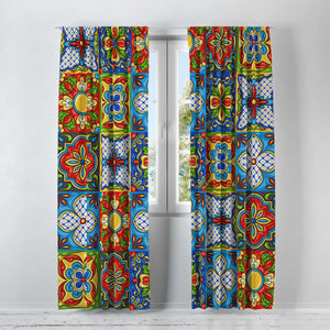 Talavera Tile Window Curtains