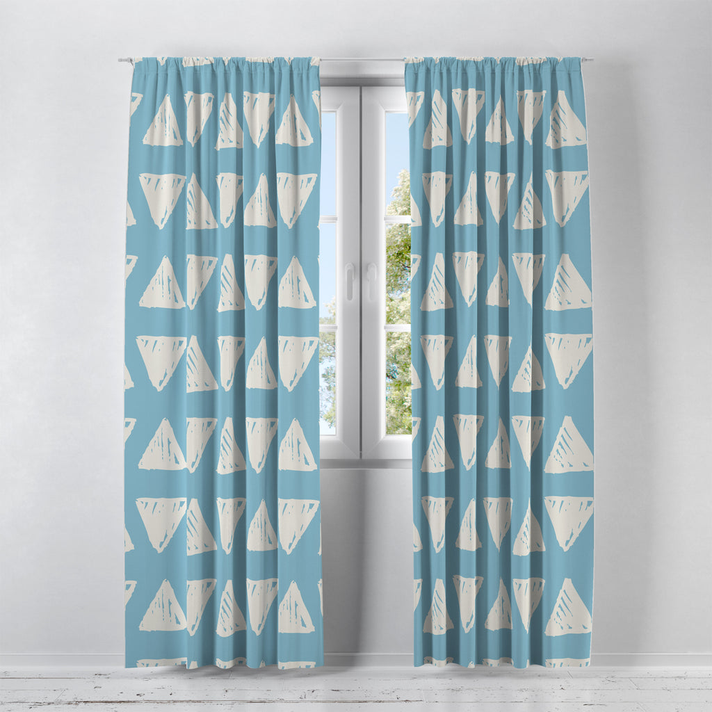 Modern Blue Window Curtains