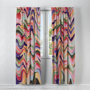Bohemian Swirl Window Curtains