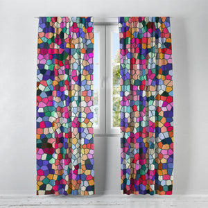 Gemstone Mosaic Widow Curtains