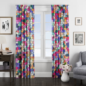 Gemstone Mosaic Window Curtains
