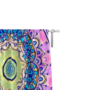 Watercolor Boho Window Curtains