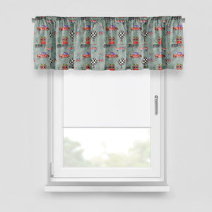 Watercolor Industrial Travel Window Curtains