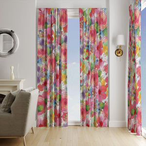 Hope Blooms Floral Window Curtains