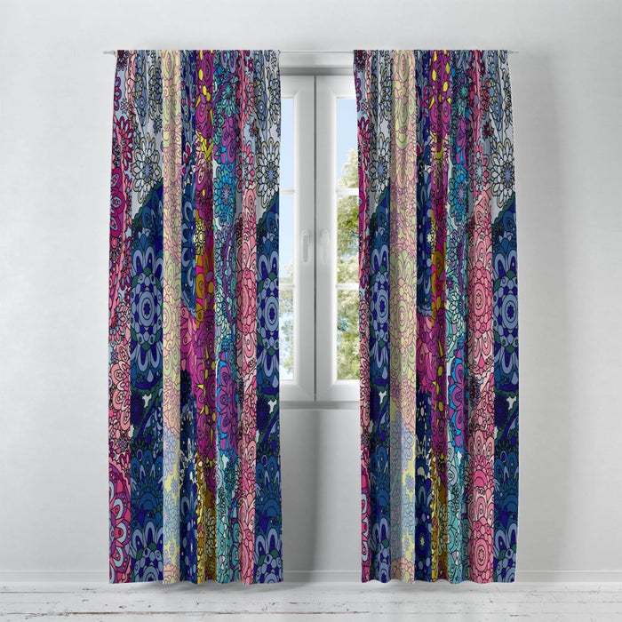 Paisley Boho Window Curtains