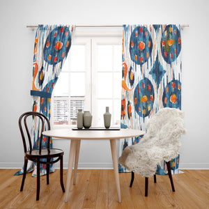 Boho Tie Dye Shibori Windw Curtains