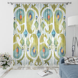 Sugar Snap Ikat Window Curtains