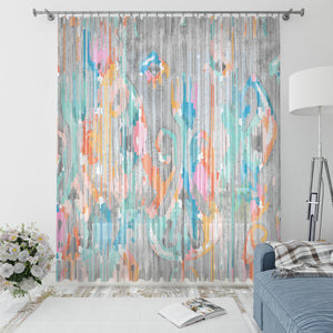 Rainy Day Ikat Window Curtains