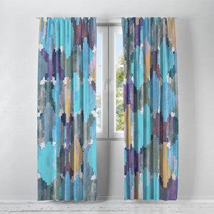 Iris Ikat Window Curtains